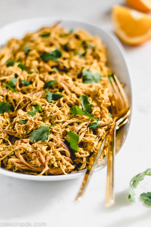 Slow cooker orange ginger chicken