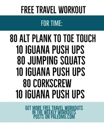 PaleOMG Free Travel Workout