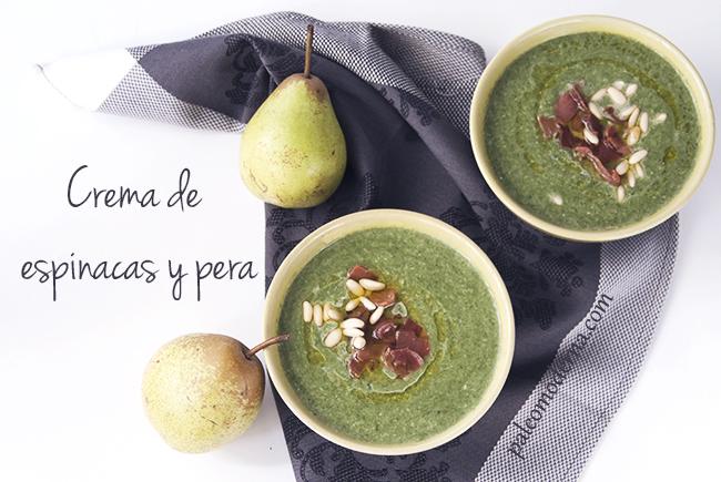 Crema de espinacas y pera {paleo, whole30}