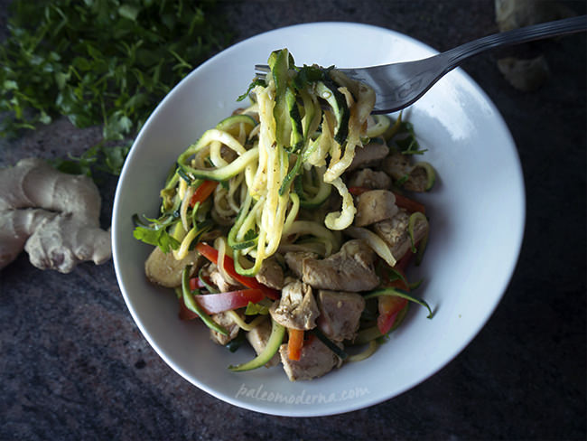 zoodles, espaguettis vegetales