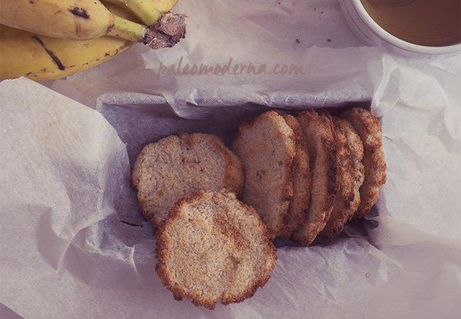 Galletas de coco y plátano, sencillísimas