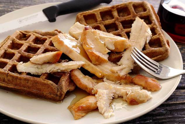 Use this paleo sweet potato waffle recipe to make open face sandwiches for your family after Thanksgiving with your leftover turkey and fixings too! Heat and eat...so good!