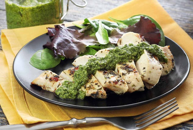 Simple paleo recipe for a creamy pesto
