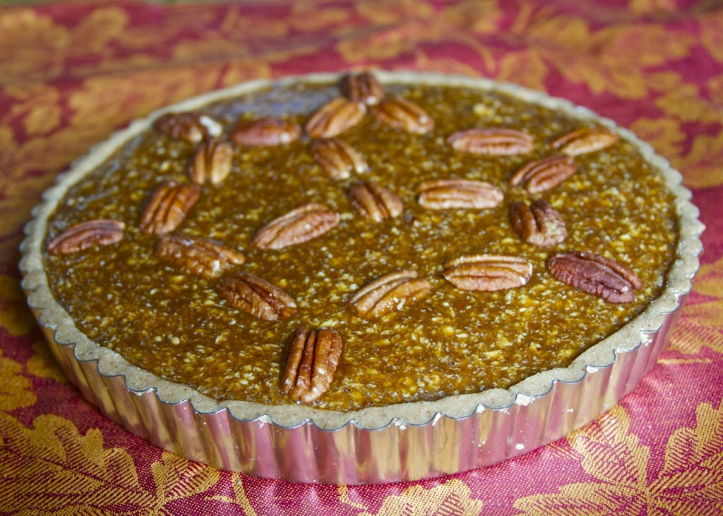 filled paleo pecan pie