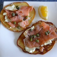 Primal Smoked Salmon & Cream Cheese Blini