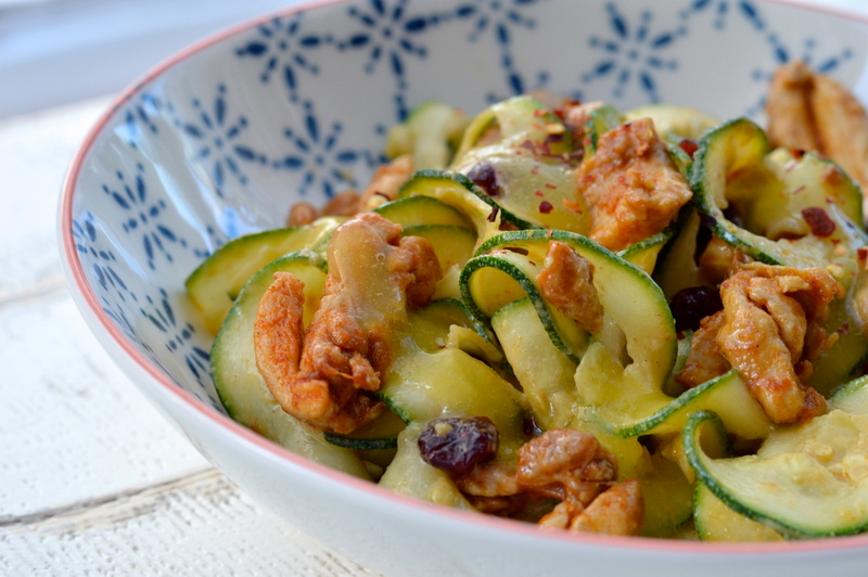 Courgetti Zoodles with Mango Dressing
