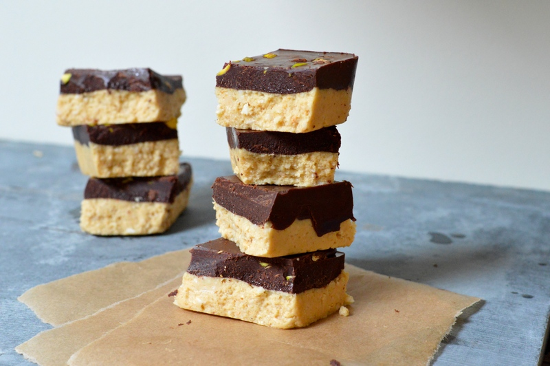 Raw Chocolate Shortbread Squares