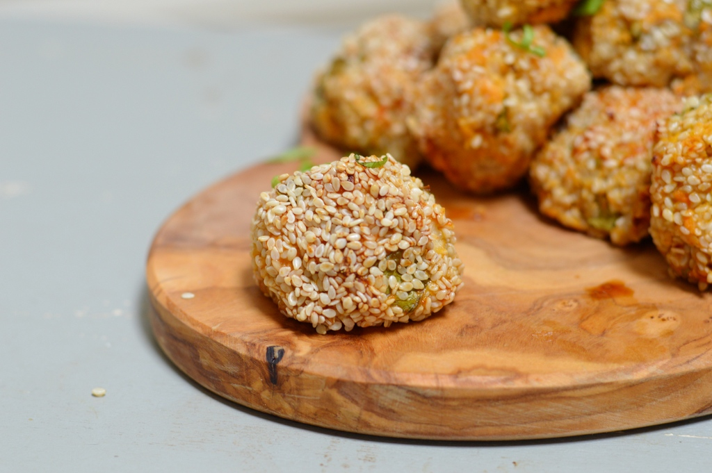 sweet potato sesame ball