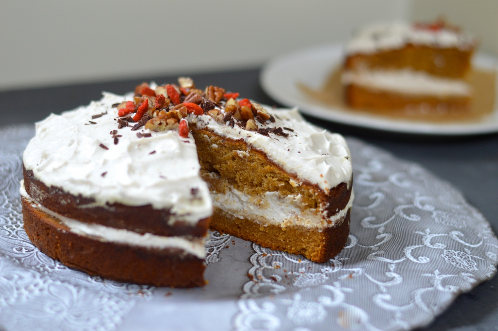Flourless Ginger Cake With Ginger Cream