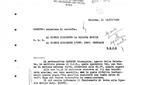 """L'ultima rivelazione di Riina: """"Telecomando nel citofono"""" Borsellino azionò la sua bomba"""