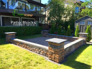 Paver Patio Blocks Installation Project in Regina 2018