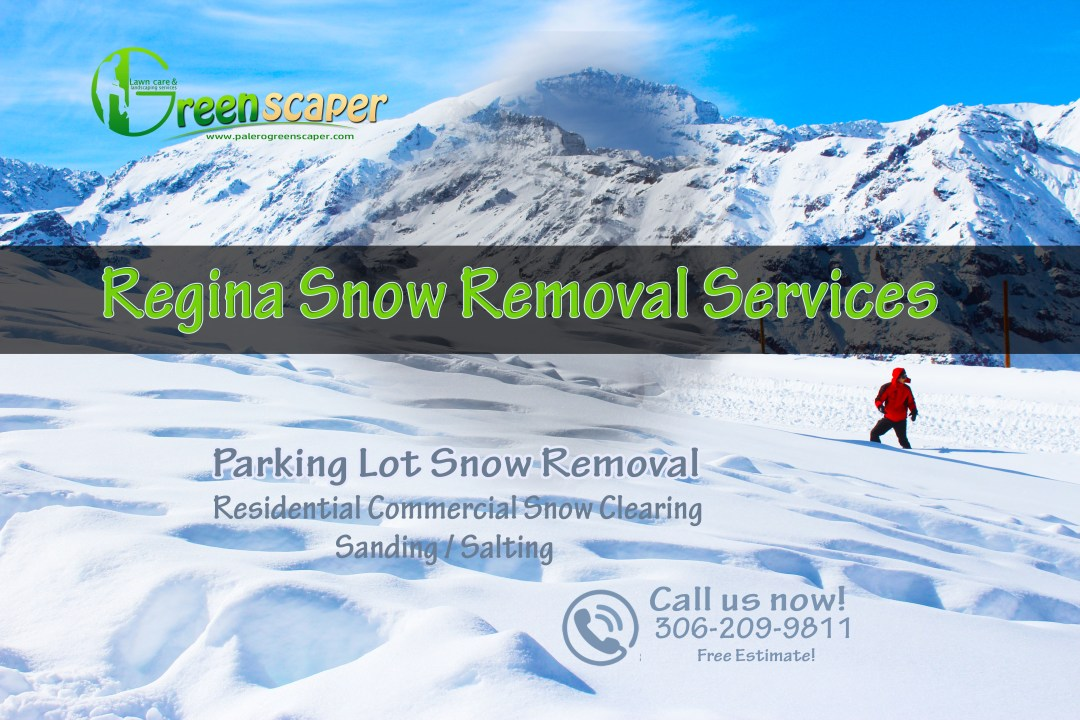 Parking lot snow removal service in Regina, SK