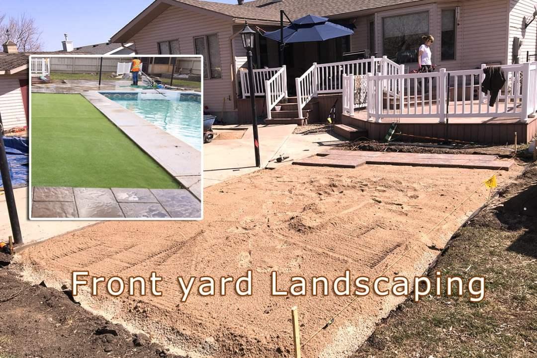 Front yard landscaping Regina 2019