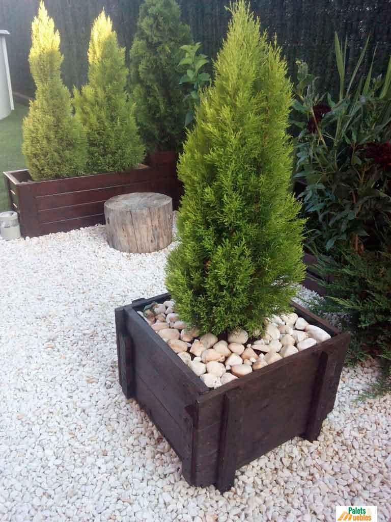 Cajn de madera para jardinera PALETS Y MUEBLES