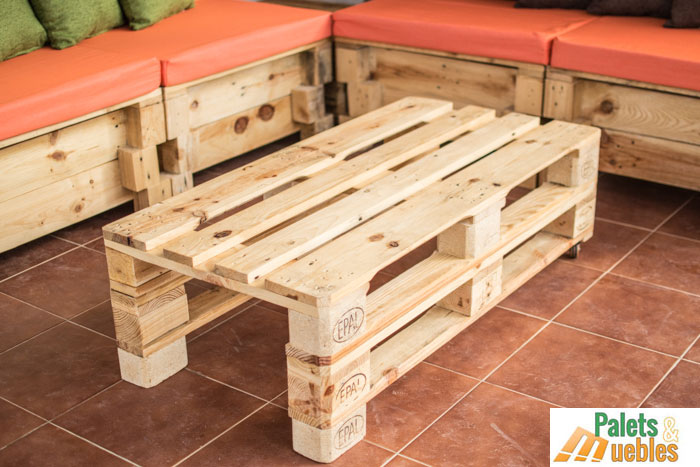 Sill n sof modular con palets palets y muebles for Sillones con palets de madera