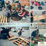 espacio sostenible en el patio del cole