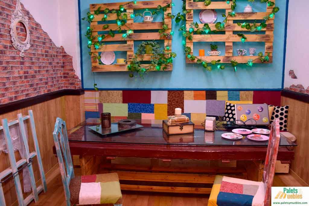 Decoraci n vintage para cafeter a palets y muebles - Decoracion retro ...