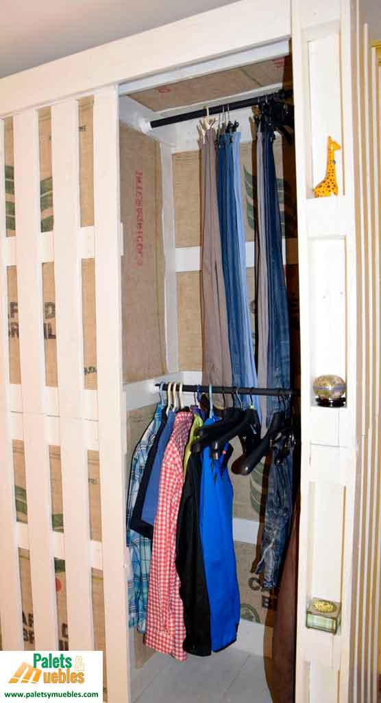 Armario hecho con palets palets y muebles - Reciclaje de pales ...