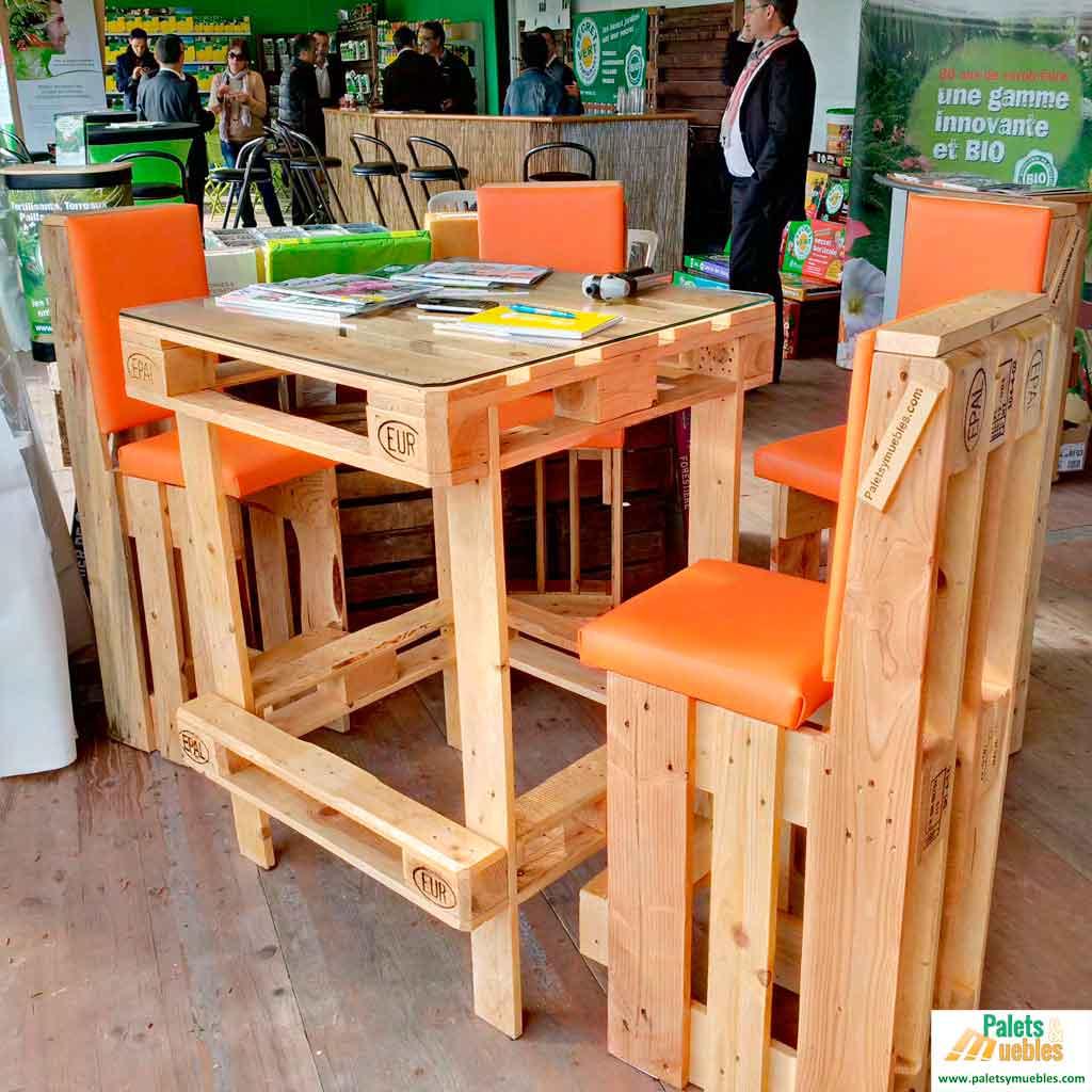 Mesa y sillas de Palets Europeos  PALETS Y MUEBLES