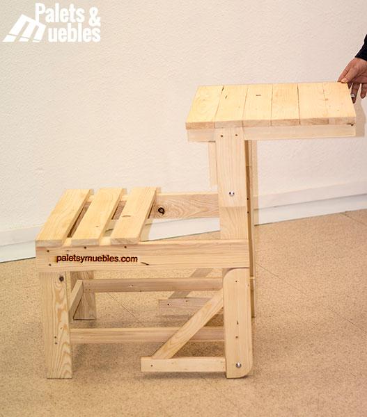 mesa banco con tablas de palets