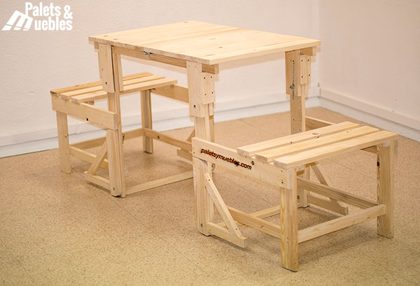 mesa silla palets y muebles