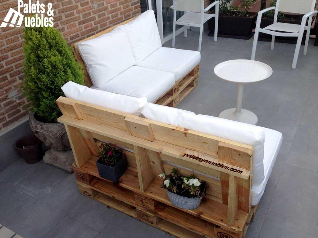 sof de palets para chill out palets y muebles. Black Bedroom Furniture Sets. Home Design Ideas