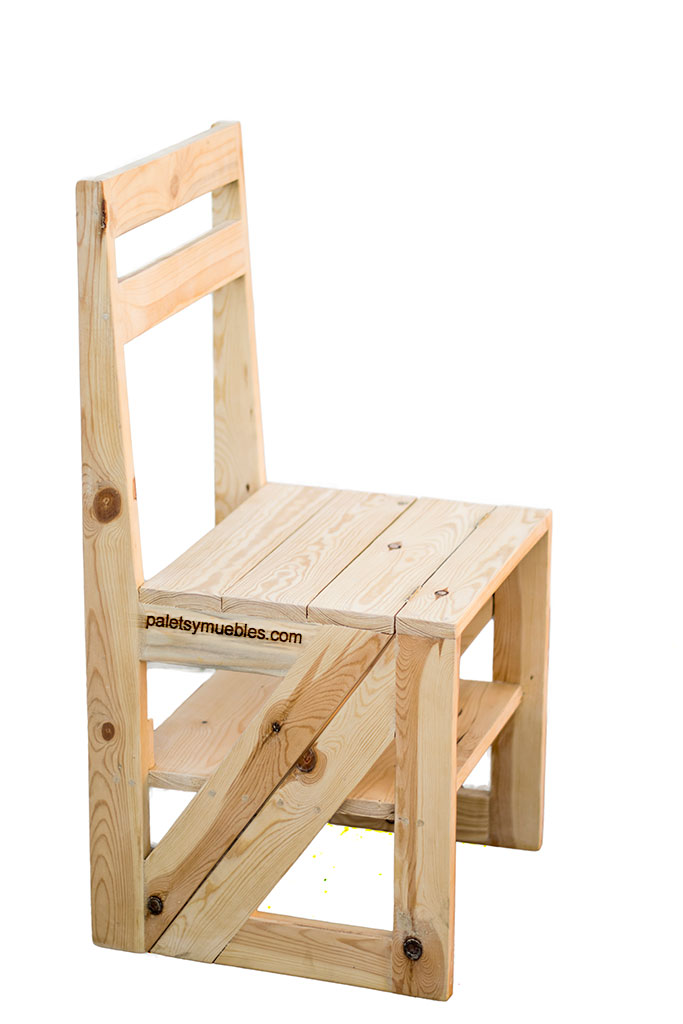 silla escalera convertible palets y muebles