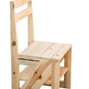 Expositor para coleccionistas palets y muebles for Silla convertible en escalera