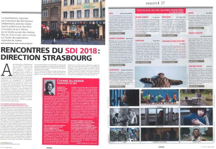 Article du Film Francais Juin 2018 SDI