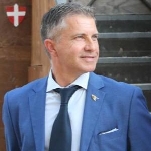 Renato Bircolotti mossiere Palio di Asti