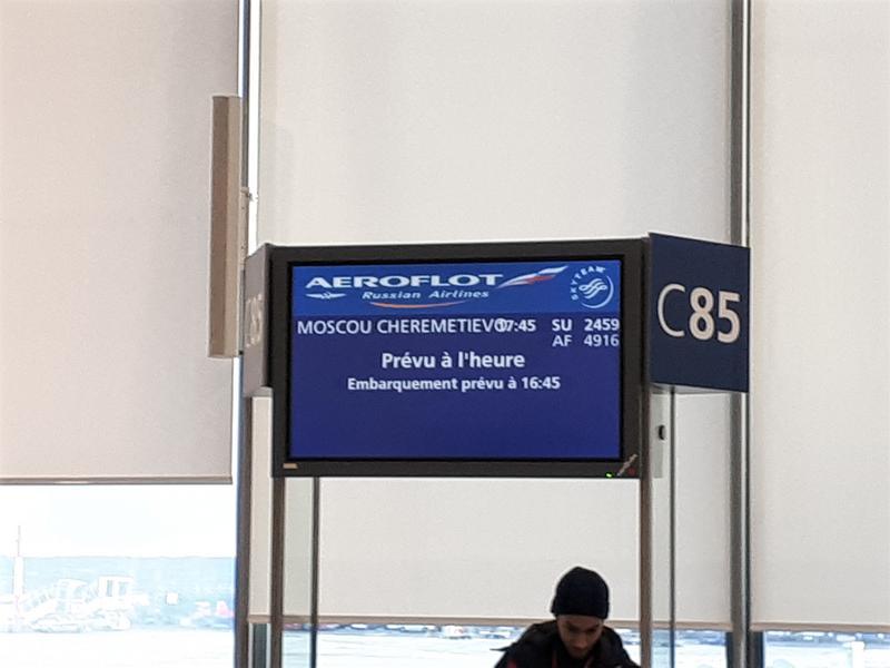 aeroflot paris cdg boarding