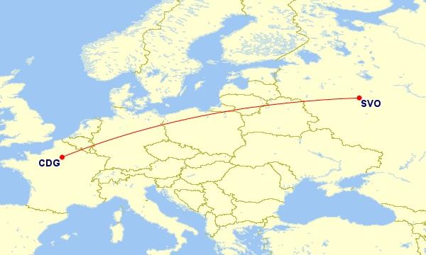 paris moscow flight