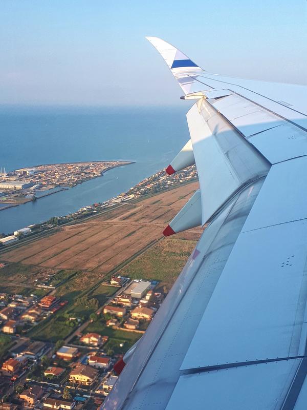view arrival rome fiumicino