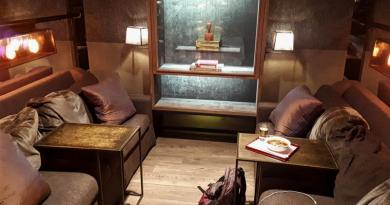 china airlines lounge couch
