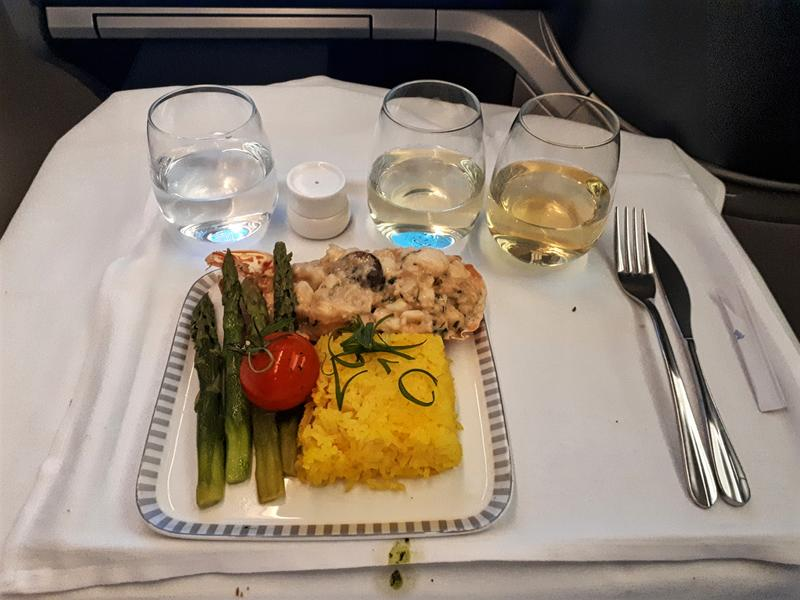 singapore airlines business class lobster thermidor