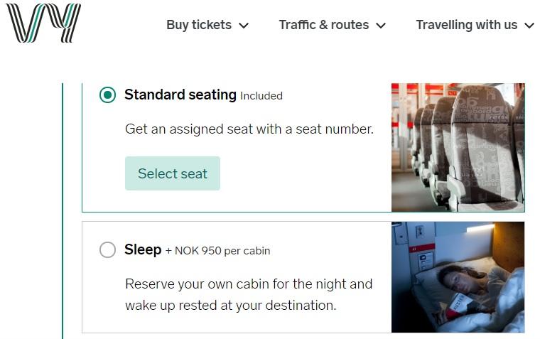 norwegian railways booking