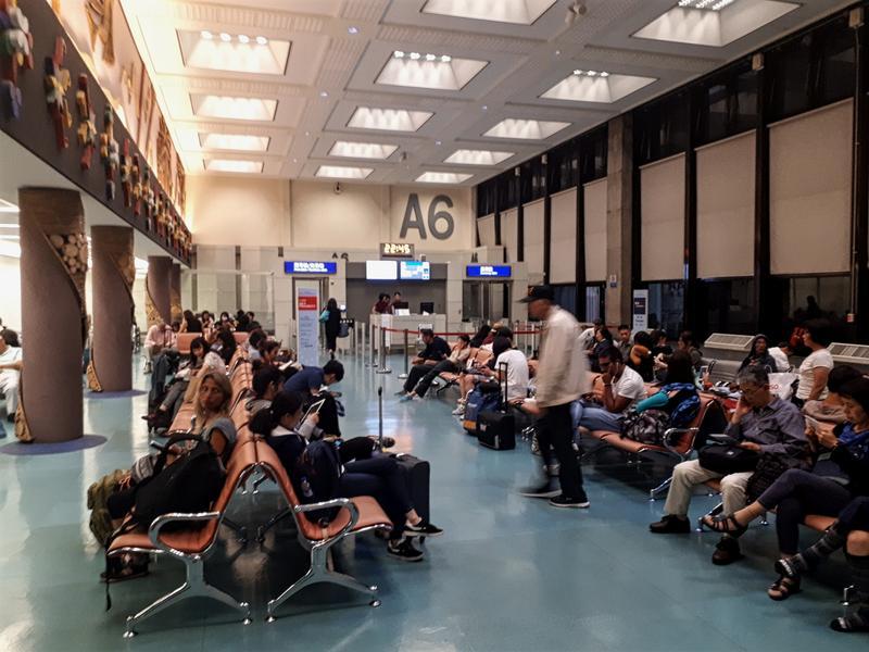 taipei airport gate area