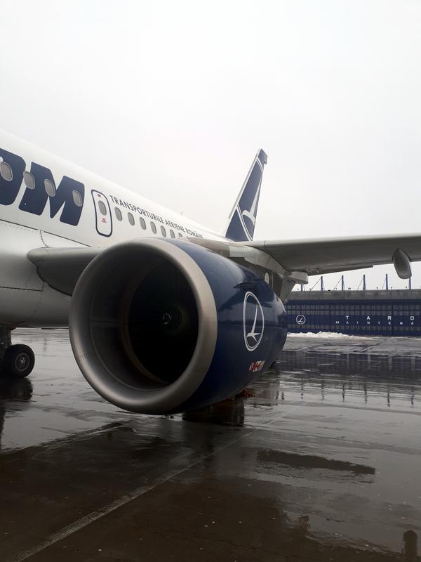 tarom a318 domestic flight