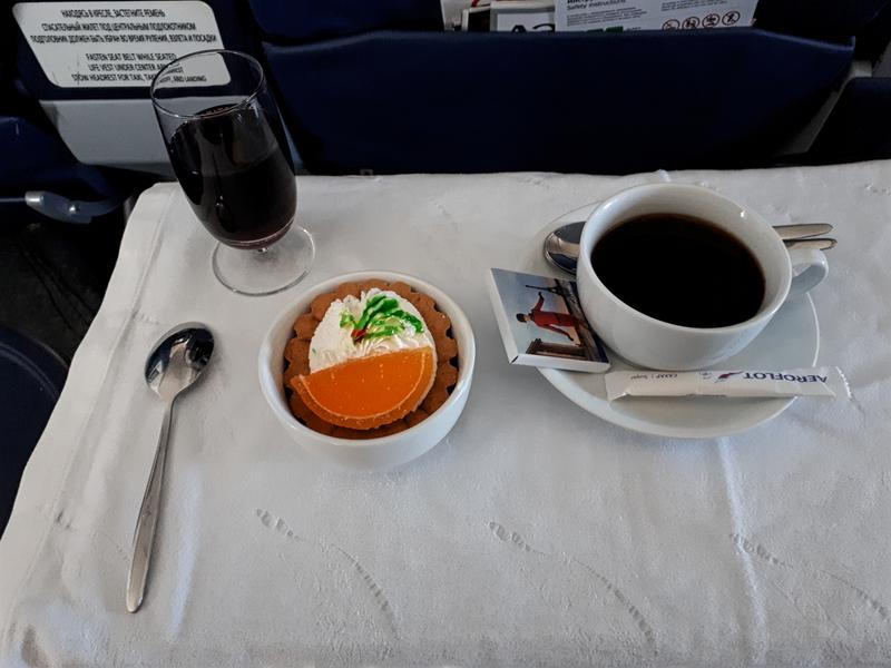 dessert coffee aeroflot business class