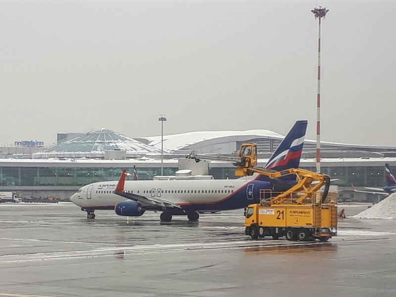 aeroflot plane tarmac sheremetyevo svo