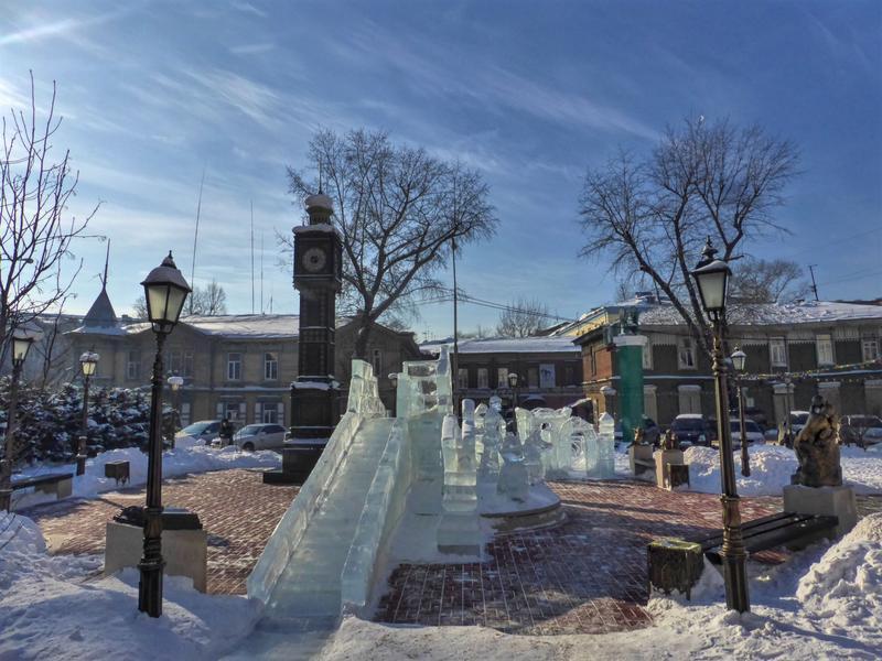 ice sculpture big ben irkutsk trip report guide winter