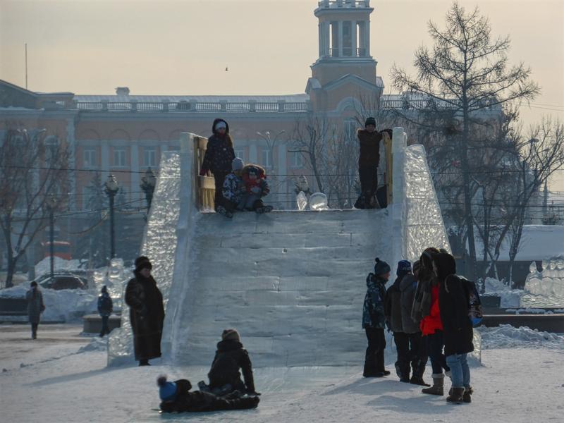 ice slide kirov park irkutsk trip report guide winter
