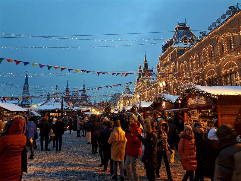 moscow red square christmas market
