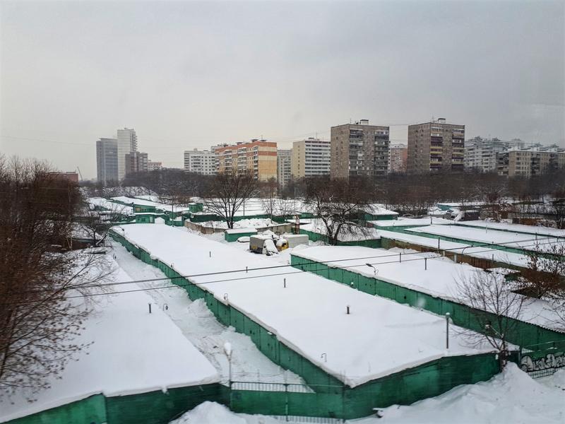 aeroexpress train view moscow suburb