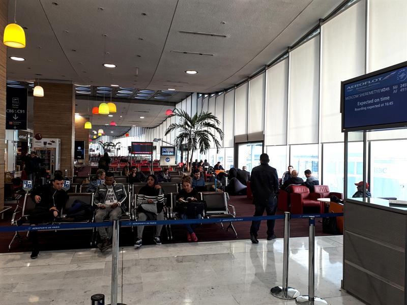paris cdg airport terminal 2c gate area
