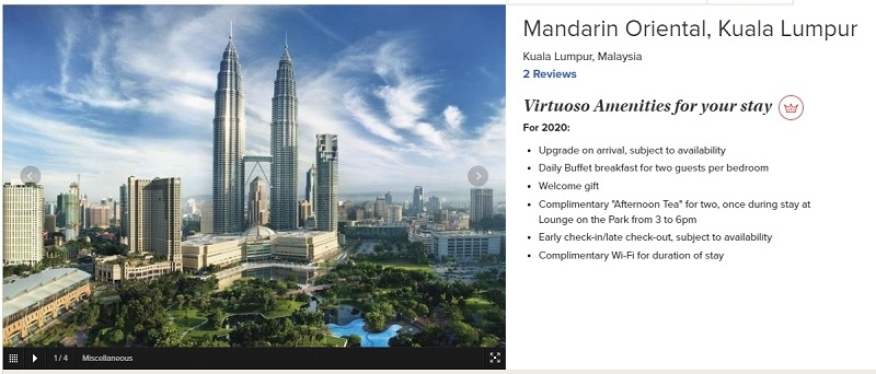 virtuoso mandarin oriental benefits