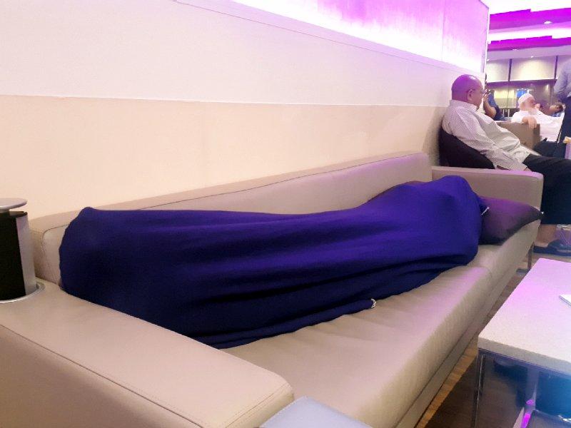 jeddah lounge sleeping