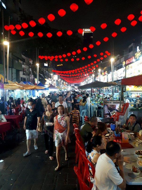 jalan alor street market night kuala lumpur