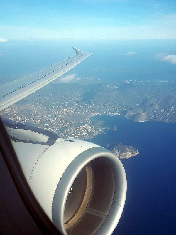 attica athens takeoff view