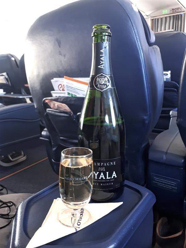 ayala champagne aeroflot